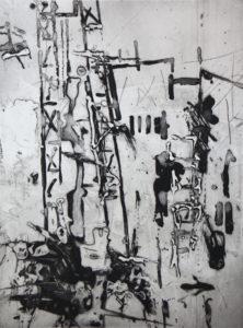 Vertigo 071902, 40 x 30 cm, Carborundum, Edition: 10