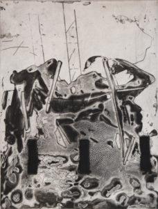 Vertigo 071904, 40 x 30 cm, Carborundum/Dry Point, Edition: 10
