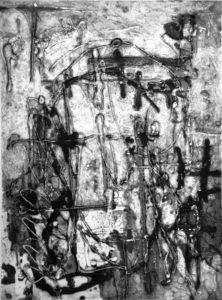In the Night, 40 x 29,8 cm, Carborundum, Edition: 10