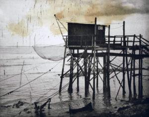 Closed Season (H0207), 40 x 50 cm, Photogravure/Chine Collee